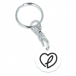 Antimicrobial Trolley Coin Keyring