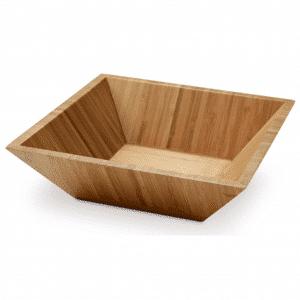 Rectangular Bamboo Salad Bowl
