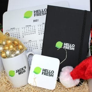 Branded Christmas Gift Box - Gold