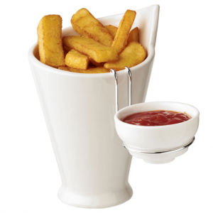 Fries And Sauce Holder