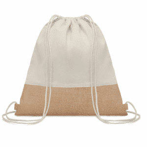 Jute Drawstring Backpack