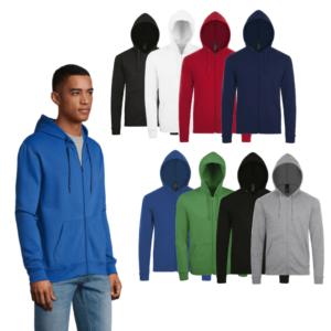 SOL'S Stone Zip Hooded Sweatshirt