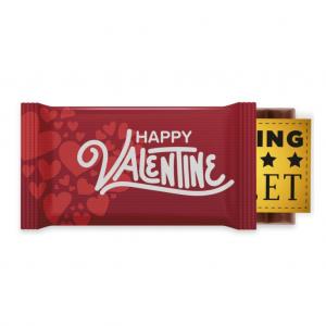 Valentines 6 Baton Chocolate Bar