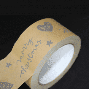 Printed Kraft Paper Parcel Tape - Totally Branded