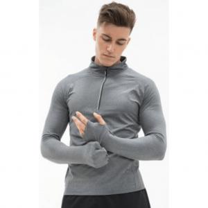 Tombo Long Sleeve Zip Neck Performance Top