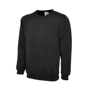 UC203 Uneek Classic Sweatshirt in Black