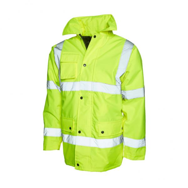 UC803 - Uneek Hi Vis Safety Jacket - Yellow
