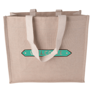 Canvas Bag With Woven Handles