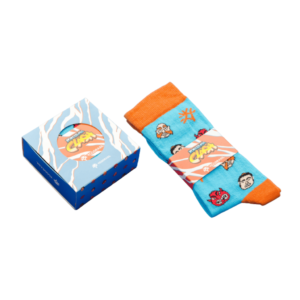 Logo Socks in Sliding Presentation Box