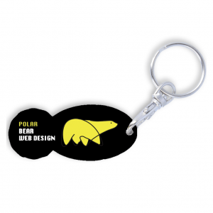 Oval Trolley Stick Keyring