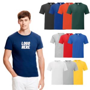 Printed Fruit of the Loom Slim Fit T-Shirt