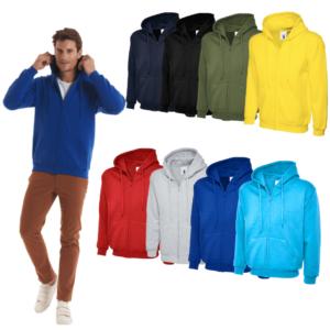 UC504 - Uneek Classic Full Zip Hooded Sweatshirt