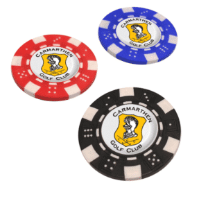 Branded Poker Chip Golf Ball Markers