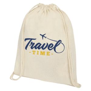 No Minimum Order Quantity Printed Cotton Drawstring Bags
