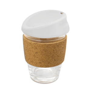 Glass Coffee Cup with Cork Band - Kiato Cup