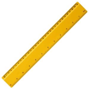 Branded Renzo plastic ruler - 30cm