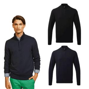 Cotton Blend ¼ zip sweater