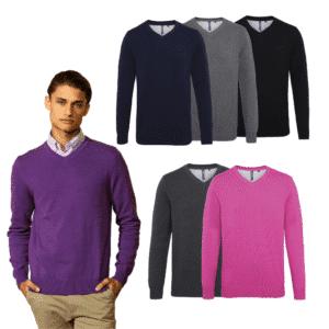 V Neck Embroidered Knitwear Jumper